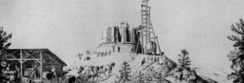 Der Bau des Hermannsdenkmals beginnt